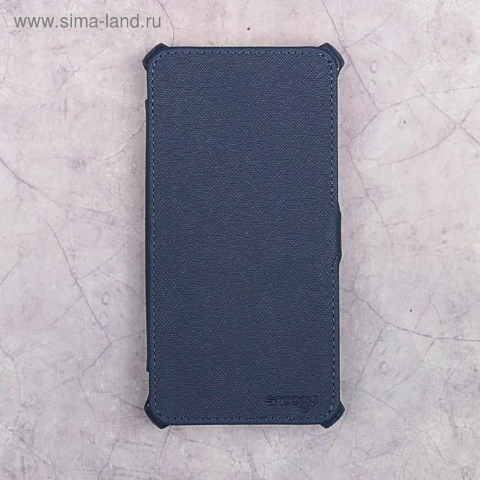Чехол-книжка Snoogy для Xiaomi Redmi Note 4X, иск. кожа, Синий
