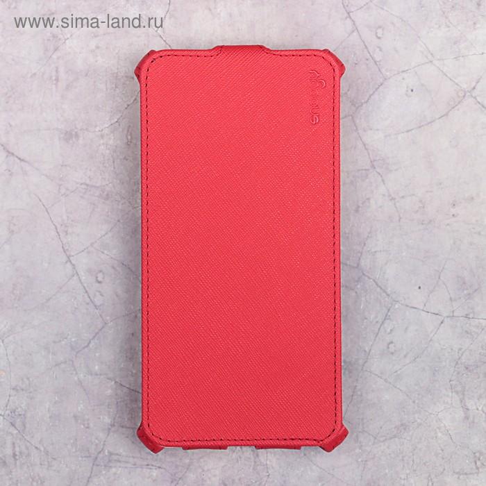 Чехол-флип Snoogy для Xiaomi Redmi Note 4X, иск. кожа, Красный