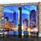 """Фотошторы """"Рассвет в мегаполисе"""", размер 150х260 см-2 шт., габардин"""