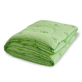 "Одеяло тёплое ""Бамбук"", размер 140х205 см, поплин, салатовый"