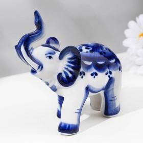 "Souvenir ""Elephant"", 11 × 5,5x11,5 cm, Gzhel"