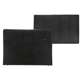 Папка А1 с ручками текстиль 920х680х40 мм «Вдохновение» с карманом чёрная