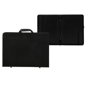Папка А3 с ручками текстильная «Вдохновение» 420х300х40 мм, чёрная