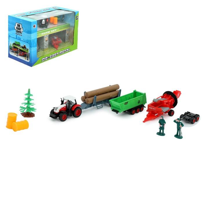 Набор игровой «Ферма», металлический трактор и аксессуары