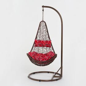 Подвесное кресло, с подушкой, искусственный ротанг, цвет коричневый, 44-001-01