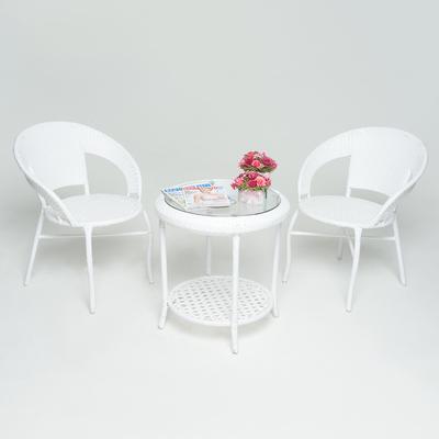 """Набор для отдыха: стол, два кресла, цвет белый, GG-04-05-06 """"WHITE"""""""