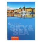 Бизнес-блокнот А5 80л Sky&Sea, твердая обл, лам картон 1122-102