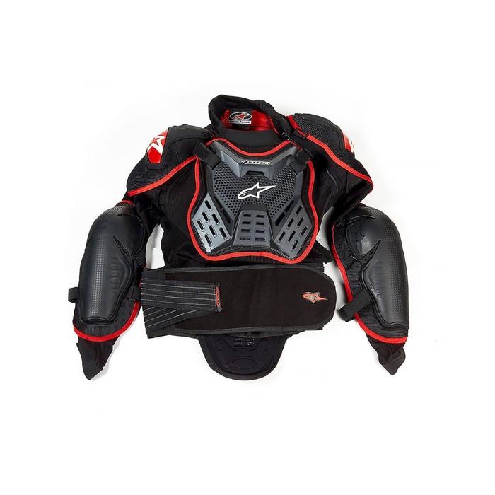 """Мотозащита """"Черепаха"""" YW-059, размер XXL, черно-красный"""