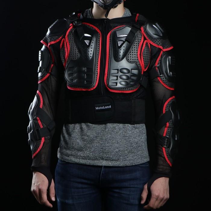 """Мотозащита """"Черепаха"""" YW-004, размер XL, черно-красный"""
