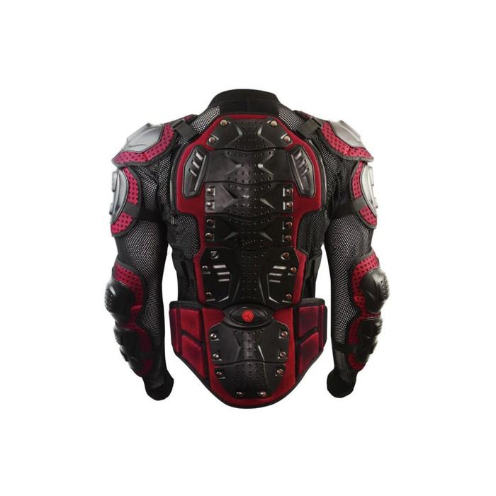 """Мотозащита """"Черепаха"""" YW-004, размер XXL, черно-красный"""