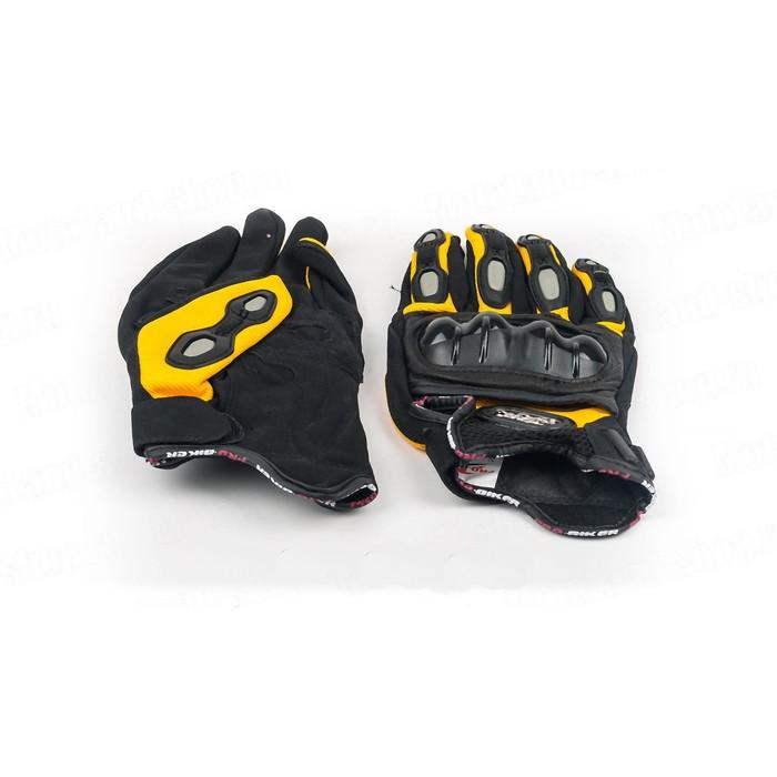 Перчатки Мото MCS-15, размер M, черно-желтый