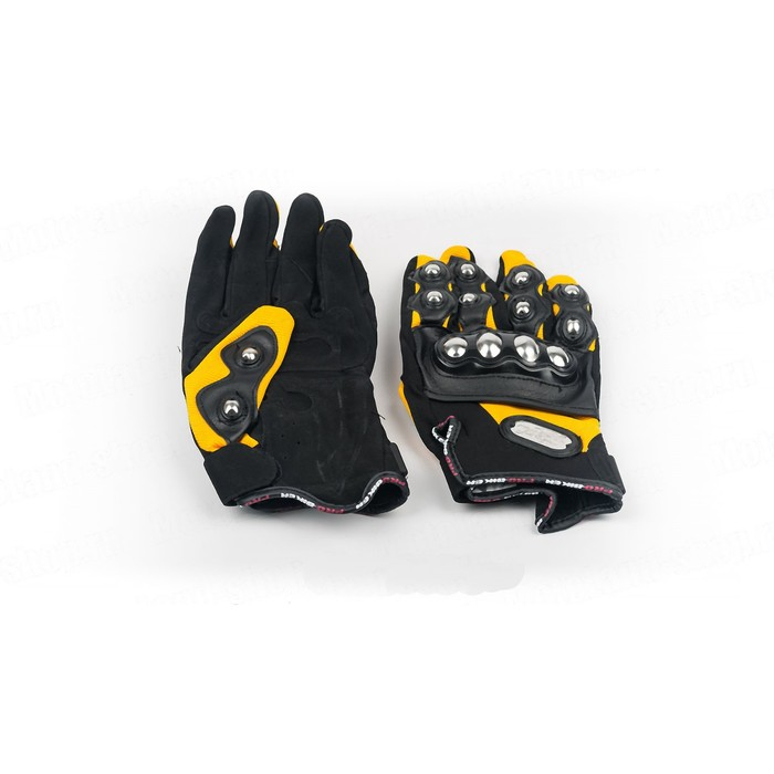 Перчатки Мото MCS-08, размер L, черно-желтый