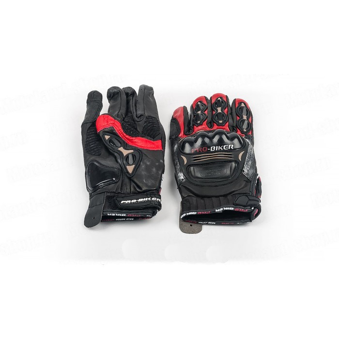 Перчатки Мото MCS-05, размер L, черно-красный