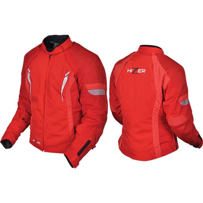 Куртка мотоциклетная женская, HIZER 518, размер L, красный