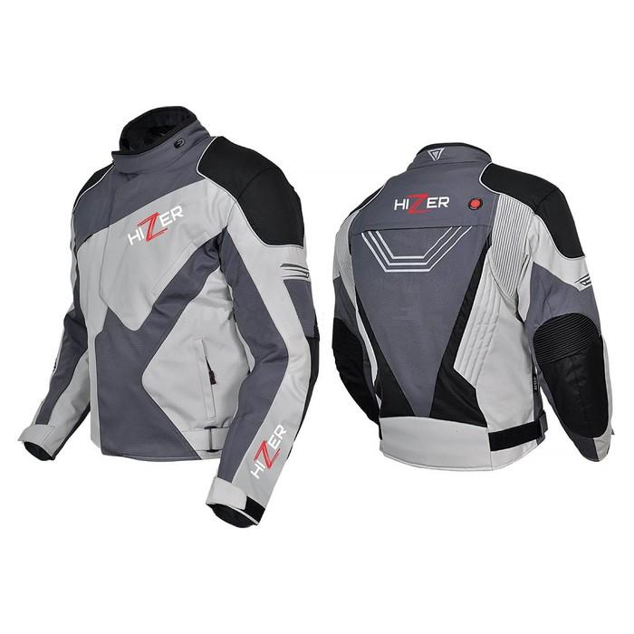 Куртка мотоциклетная, HIZER 515, текстиль, размер S, черно-серый