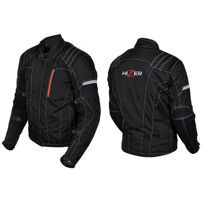 Куртка мотоциклетная, HIZER 514, текстиль, размер M, черный