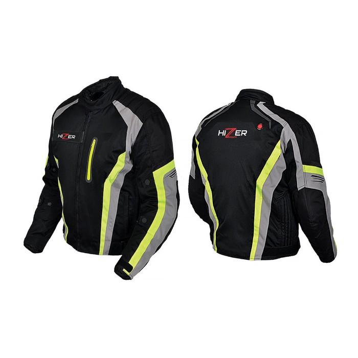 Куртка мотоциклетная, HIZER 508, текстиль, размер XXL, черный