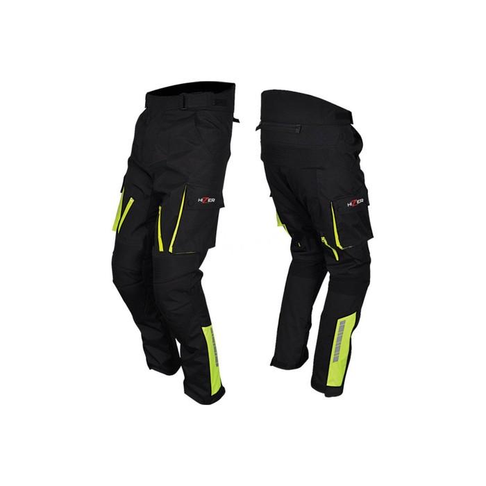Штаны мотоциклетные, текстиль, HIZER 526, размер XL, черный