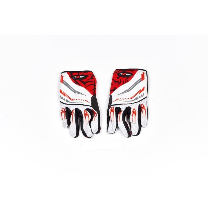 Перчатки, текстиль, HIZER 8099-A, размер L, красно-белый