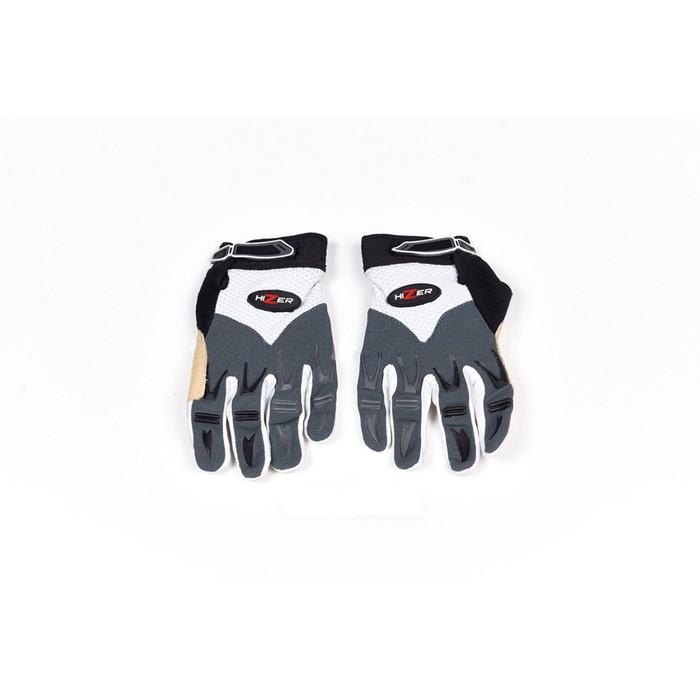 Перчатки, текстиль, HIZER 8096-B, размер L, бело-серый