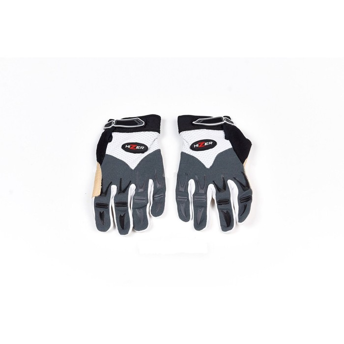 Перчатки, текстиль, HIZER 8096-B, размер M, бело-серый
