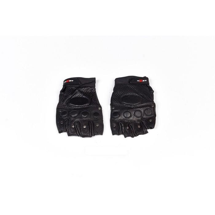 Перчатки, кожа, HIZER 593, размер L, черный