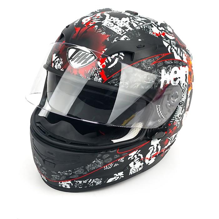Шлем THH TS-42-11, размер M, бело/черно/красный, 2-стекла