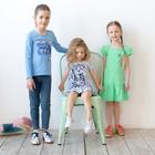 Платье для девочки, рост 98 см, цвет серый меланж 121-332-22