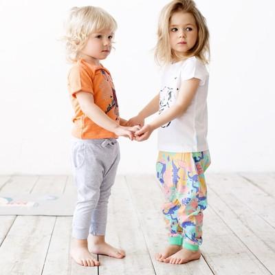 Штанишки для девочки, рост 80 см, цвет набивка животные 121-003-35
