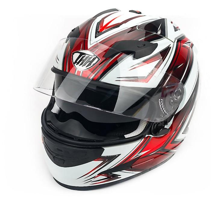 Шлем THH TS-42-10, размер M, бело/красный, 2-стекла