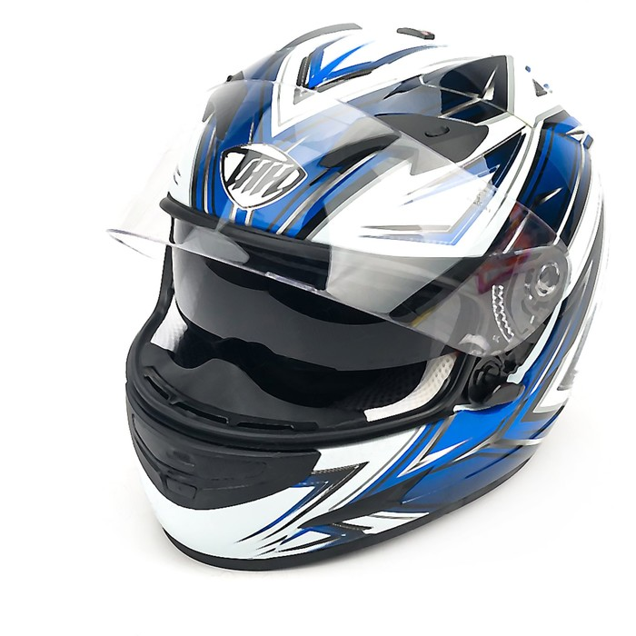 Шлем THH TS-42-10, размер S, бело/синий, 2-стекла