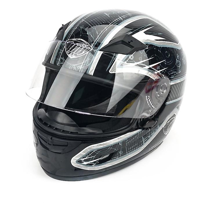 Шлем THH TS-39-8, размер XL, черно/серый