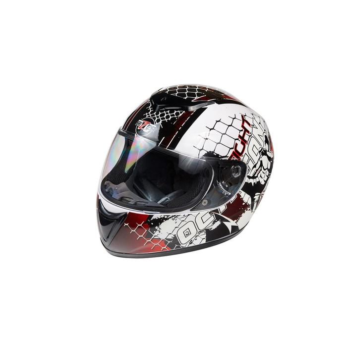 Шлем HIZER 522-1, размер XL, бело/черный