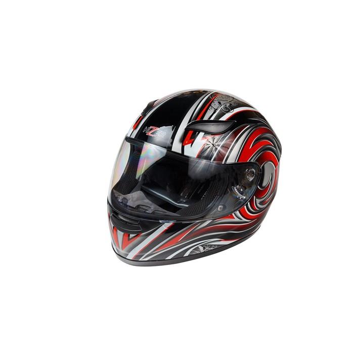 Шлем HIZER 521-7, размер L, красно/черный