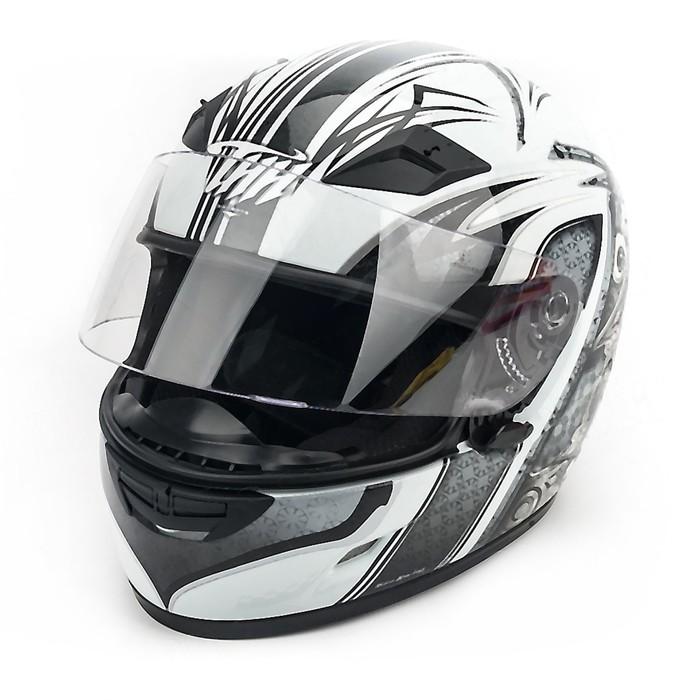 Шлем THH TS-39-6, размер S, бело/серый
