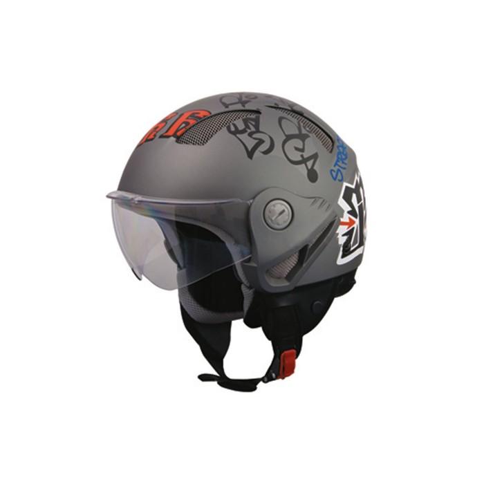 Шлем THH T-9-1, размер L, темно серый матовый
