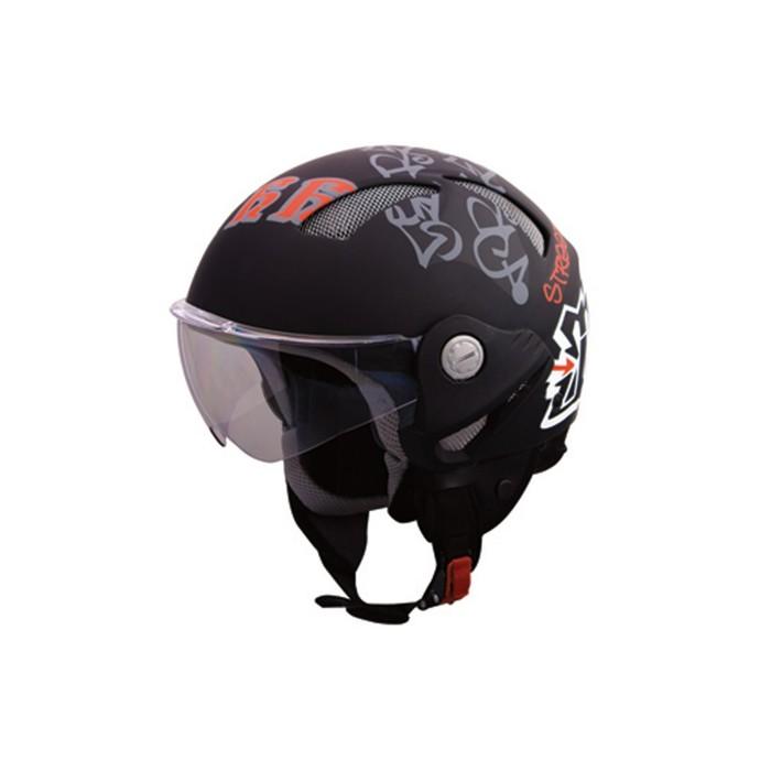 Шлем THH T-9-1, размер L, черно/красный матовый