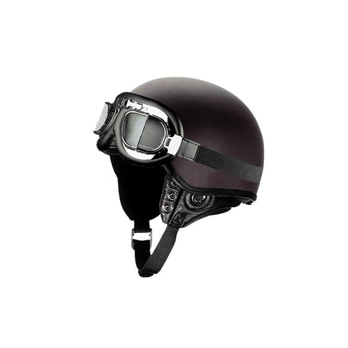 Шлем THH T-62G, размер XL, LEATHER, кожа, очки