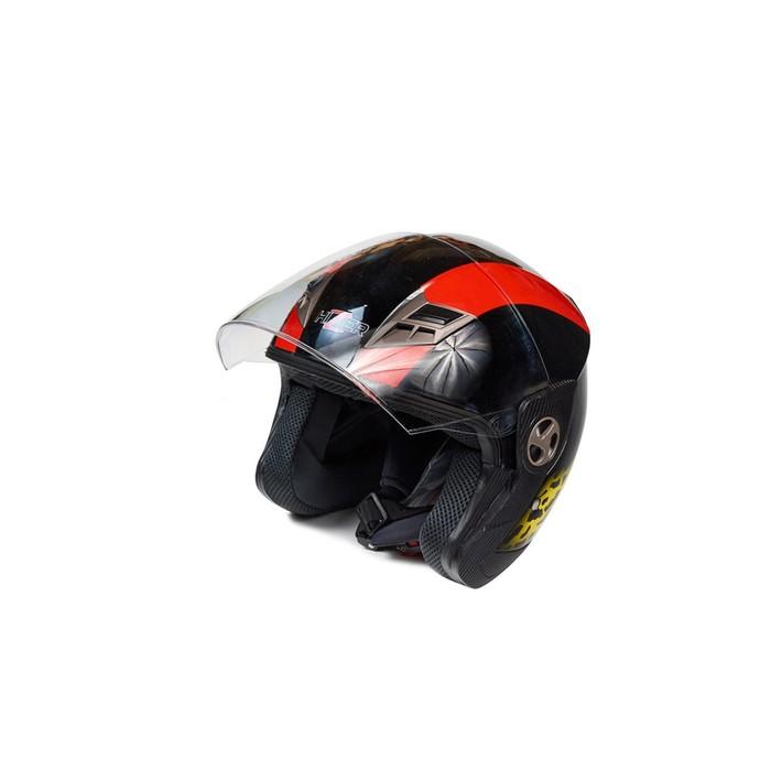 Шлем HIZER 222-1, размер S, черно/красный