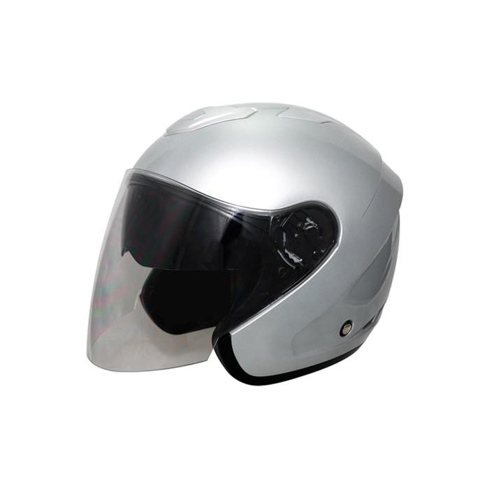 Шлем THH T-376, размер S, светло серый, 2-стекла