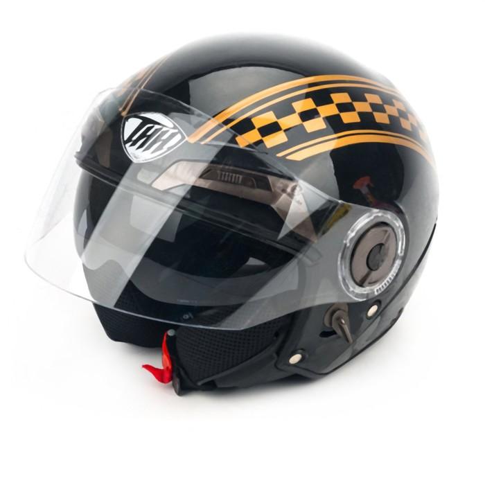 Шлем THH T-314-2, размер XS, черный, флаг