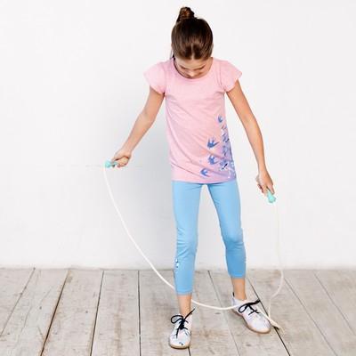 Брюки для девочки, рост 110 см, цвет голубой 121-328-07