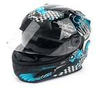 Шлем THH TS-44-4, размер L, черно/голубой