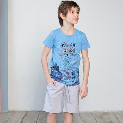 Шорты для мальчика, рост 104 см, цвет серый меланж 122-335-22