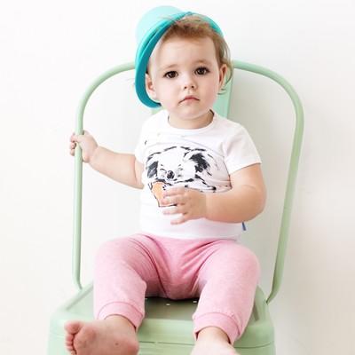 Штанишки для девочки, рост 86 см, цвет розовый меланж 121-003-24