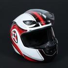 Шлем HIZER 620-2, размер XL, бело/красный