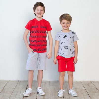 Шорты для мальчика, рост 116 см, цвет красный 122-337-19