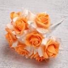 Букет d=17, 9 цветков, персиковый