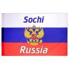 Флаг России с гербом, Сочи, 60х90 см, полиэстер