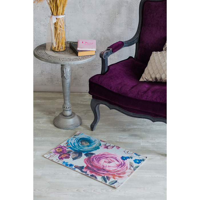 Коврик для дома «Цветочный», 50×80 см